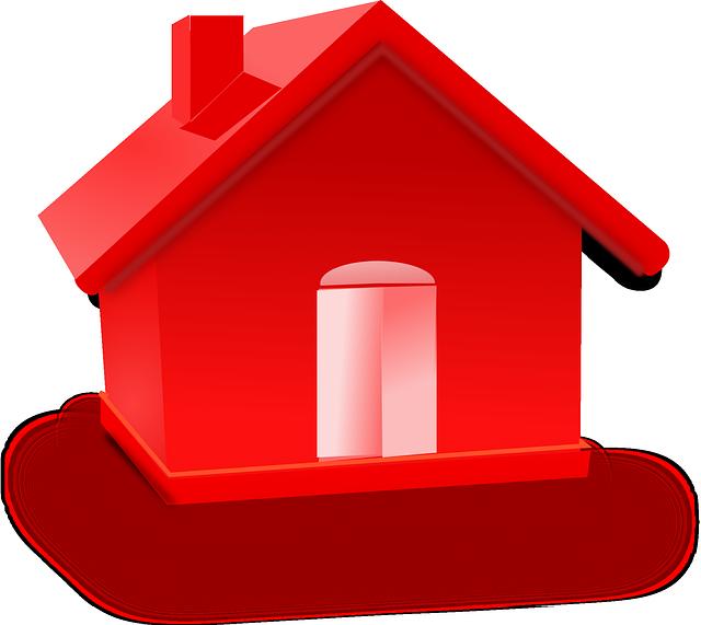 červený domek