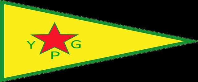 Prapor kurdské YPG